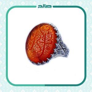 انگشتر نقره جواهر نشان