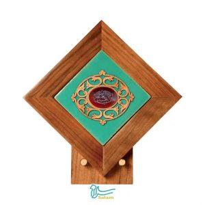 تندیس کاشی لعابدار سنتی و عقیق